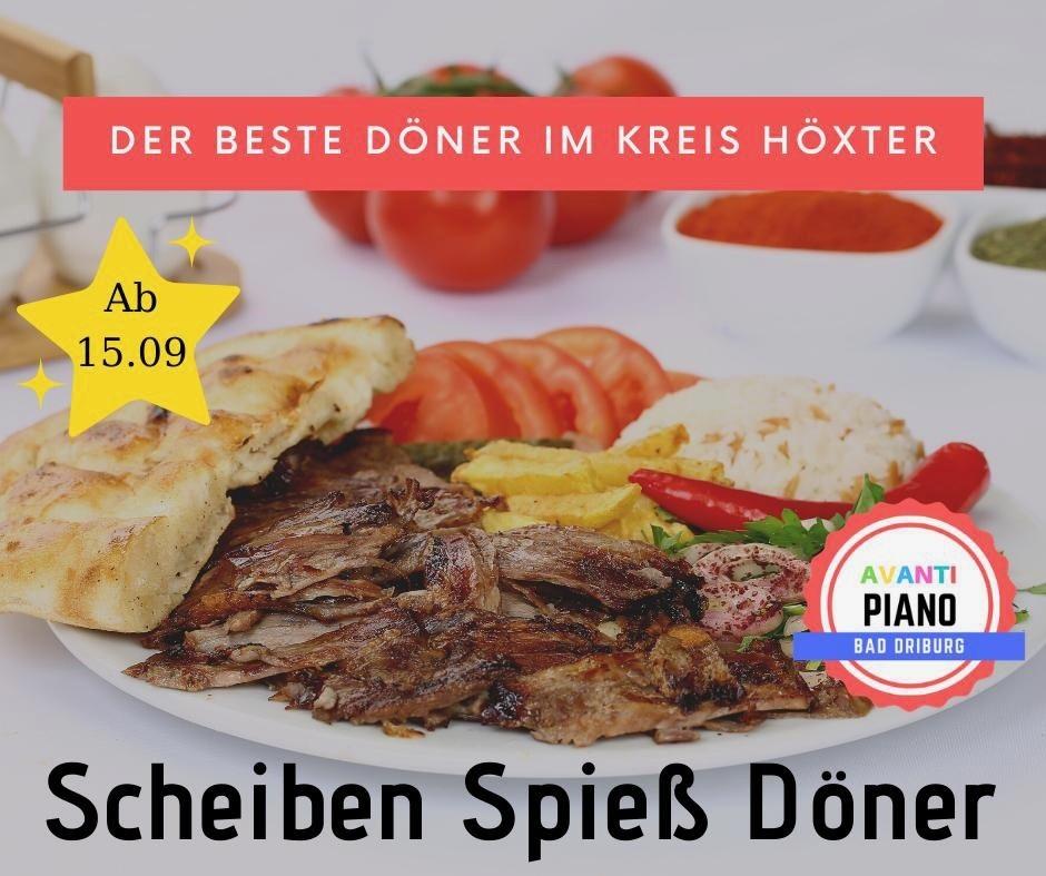 Scheiben Spieß Döner Pizzeria Avanti Bad Driburg