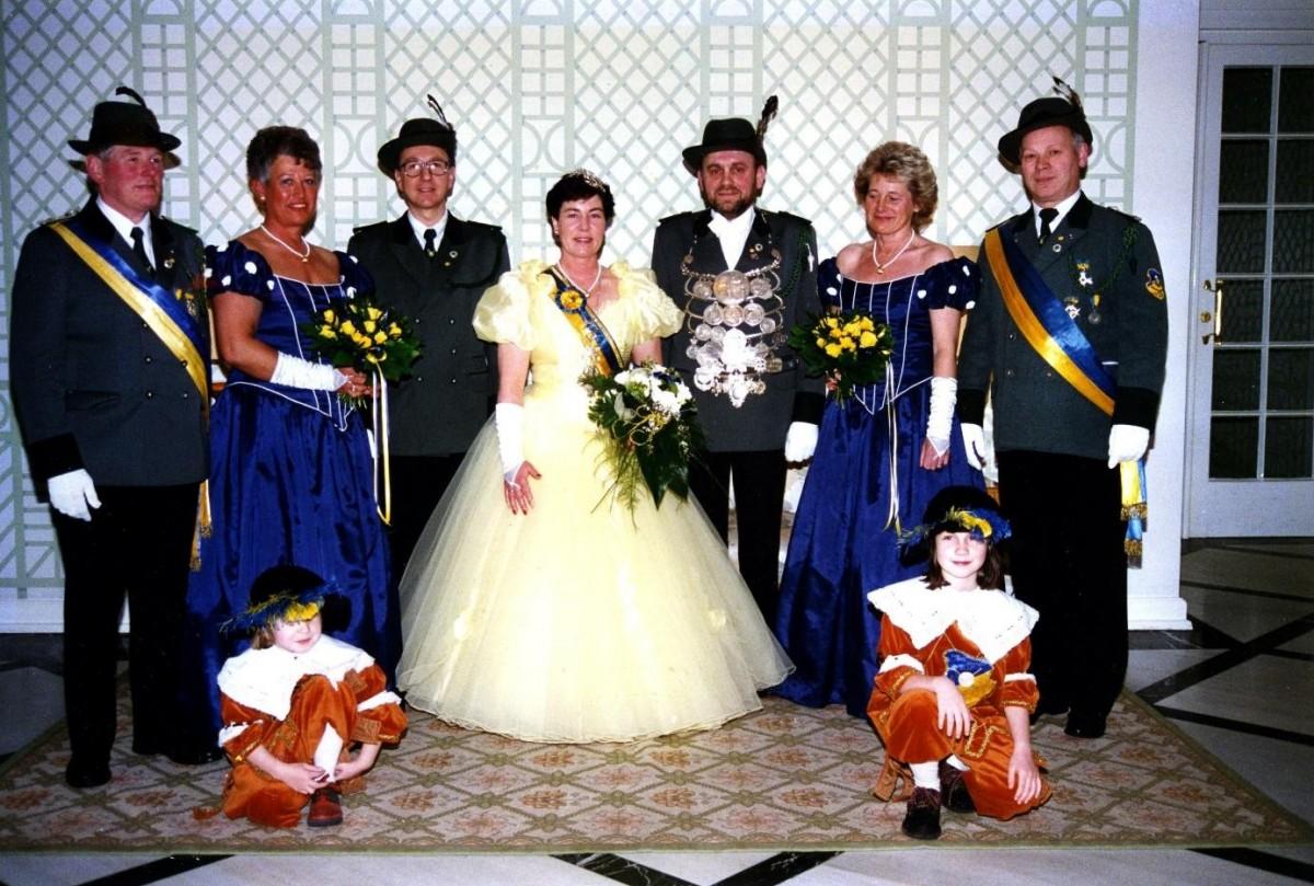Vor 25 Jahren waren Norbert Beersiek und Annemarie Bröker das Königspaar der Bürgerschützengilde