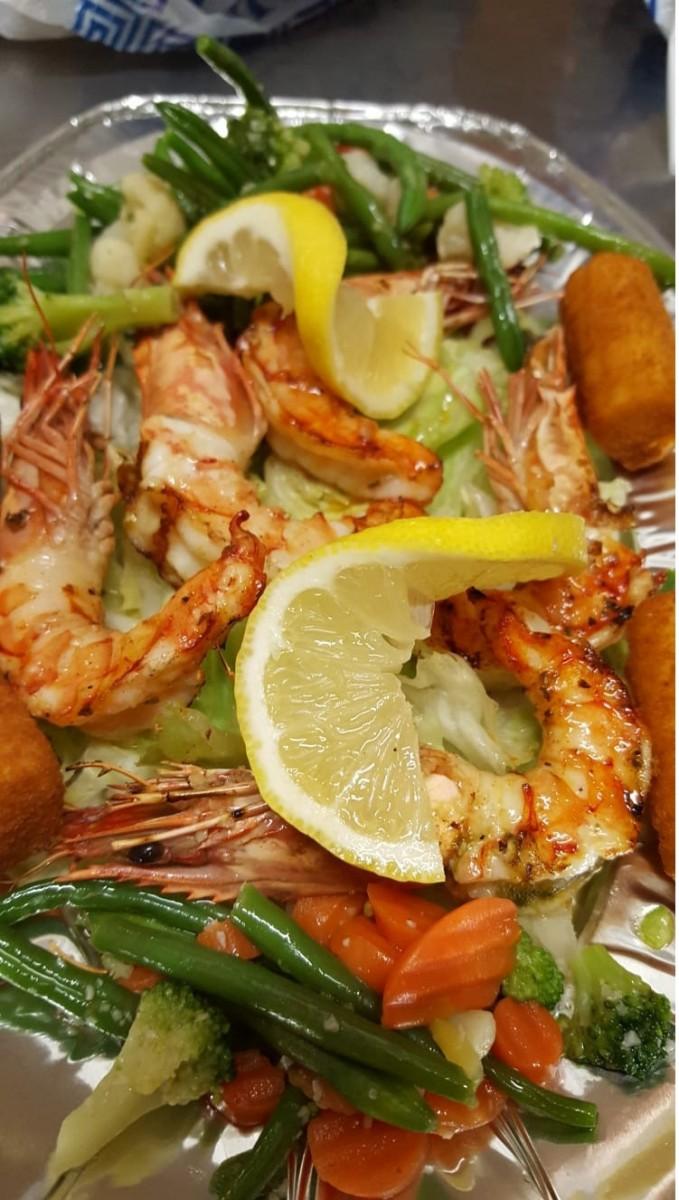 Gerichte im Restaurant Athen