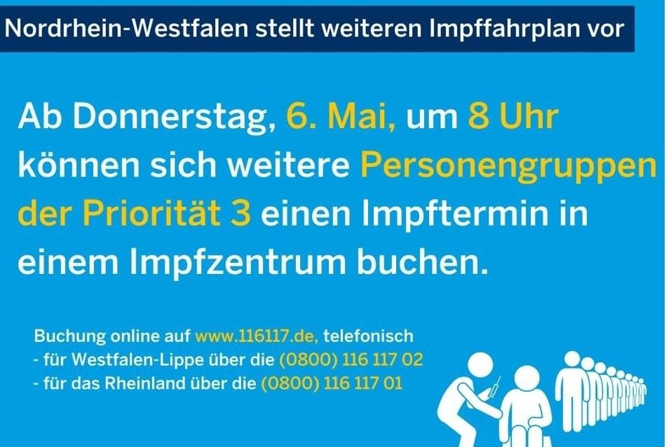 Weiterer Impffahrplan in NRW ab dem 06.05.2021 ...