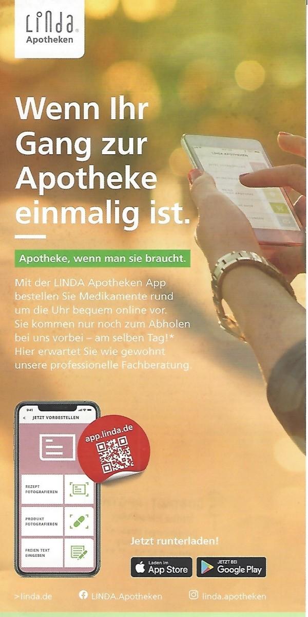 Flyer Linda Apotheken App Brunnen - Apotheke Südstadt - Apotheke